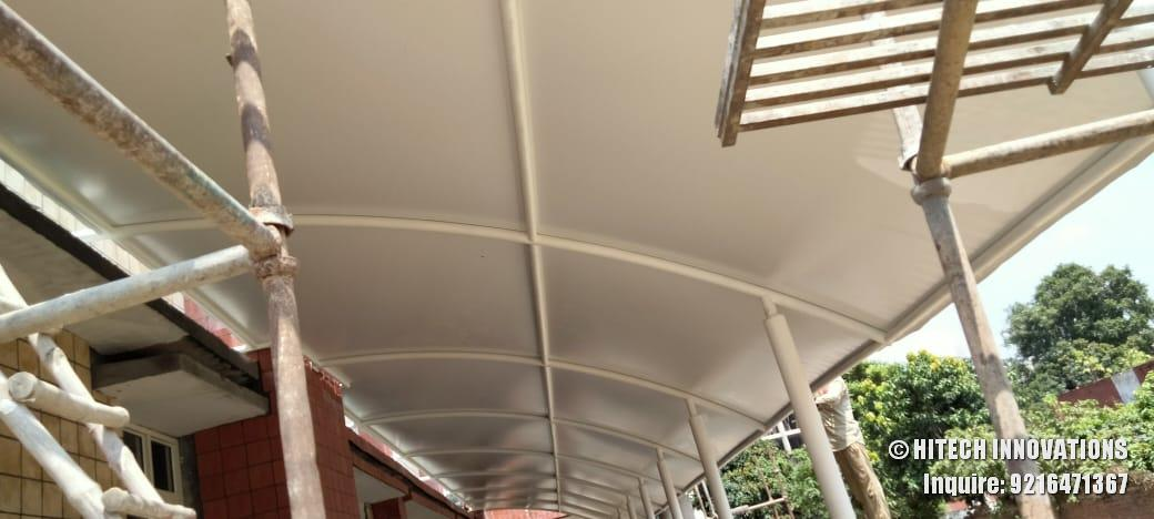 Tensile Cloth Roof of Tensile Structure Civil Hospital Ludhiana