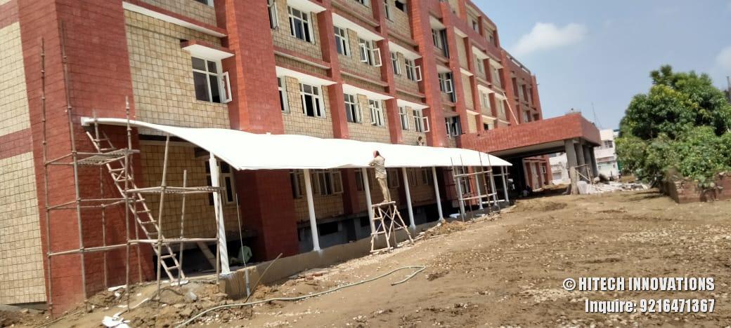 Finalising Tensile Structure Civil Hospital Ludhiana