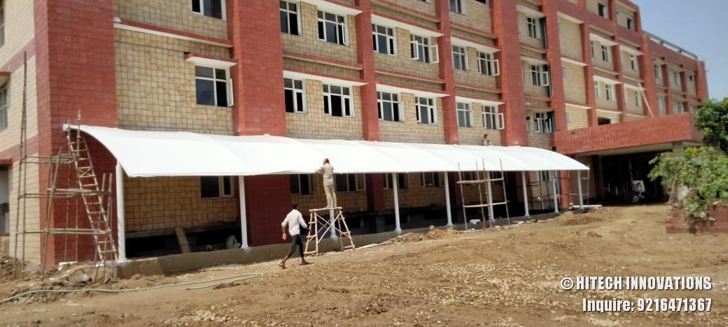 Completing Tensile Structure Civil Hospital Ludhiana