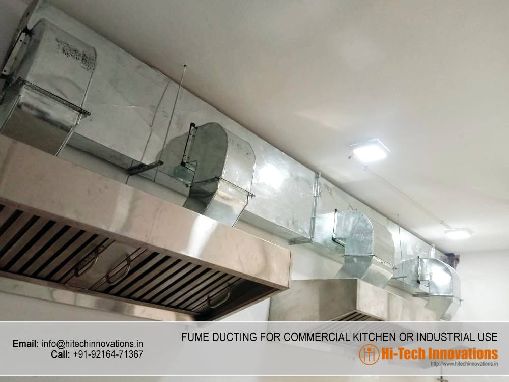 New Fume Ducting for Commercial Kitchen and Industrial Use
