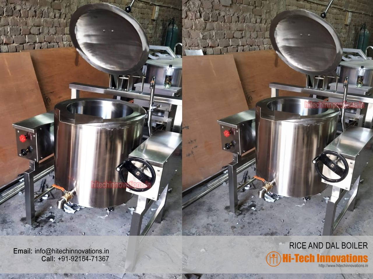Rice and Dal Boiler | Commercial Kitchen Equipment