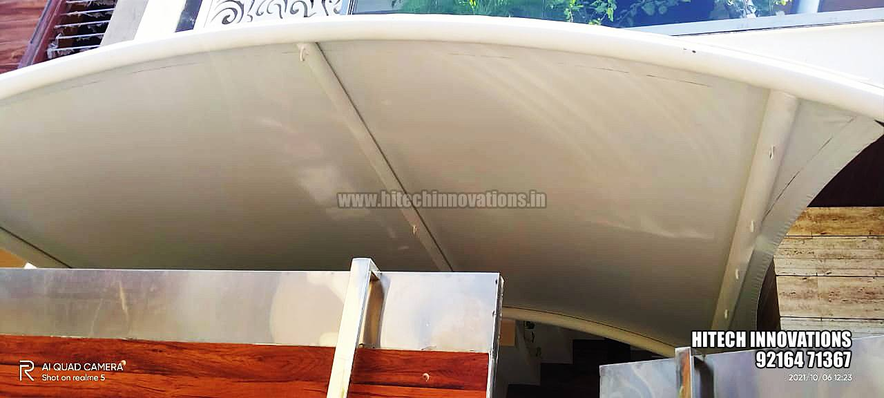 Tensile Car Shed for a Small Car